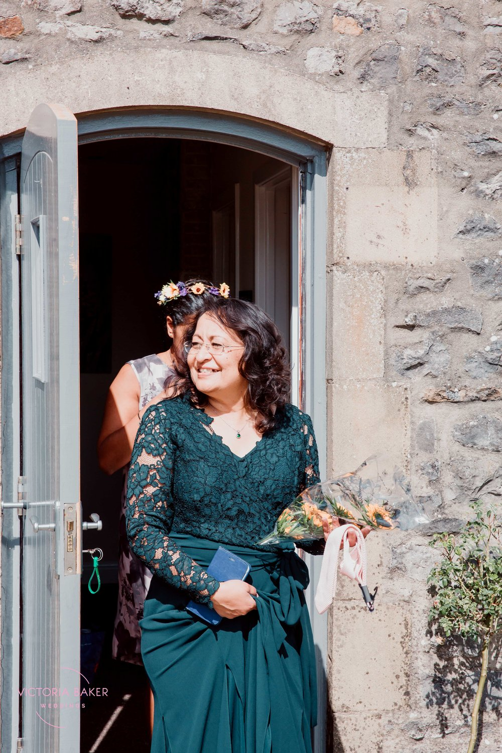 Mother of the bride at Kilnsey Park Estate Wedding Photography