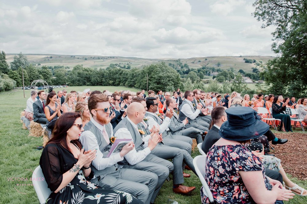 Outdoor wedding ceremony at Kilnsey Park Estate Wedding Photography