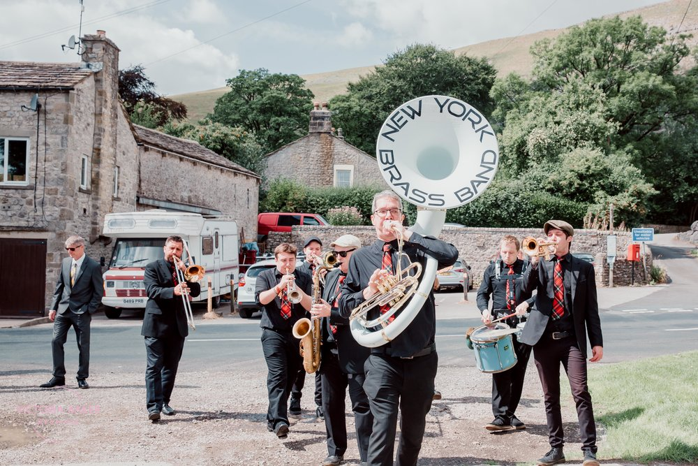 New York Brass Band at Kilnsey Park Estate