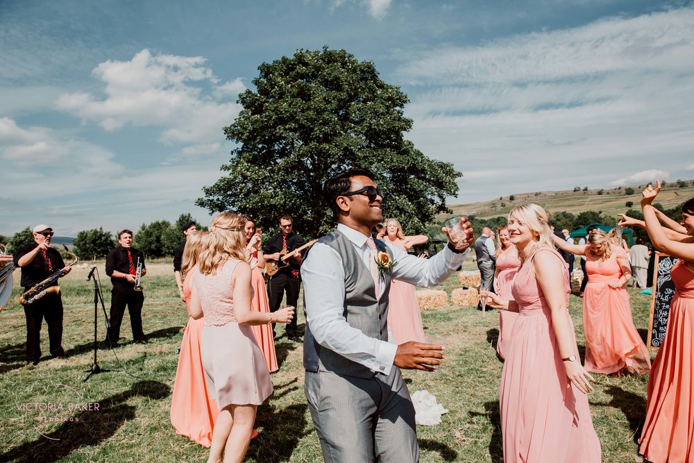 Dancing at Kilnsey Park Estate