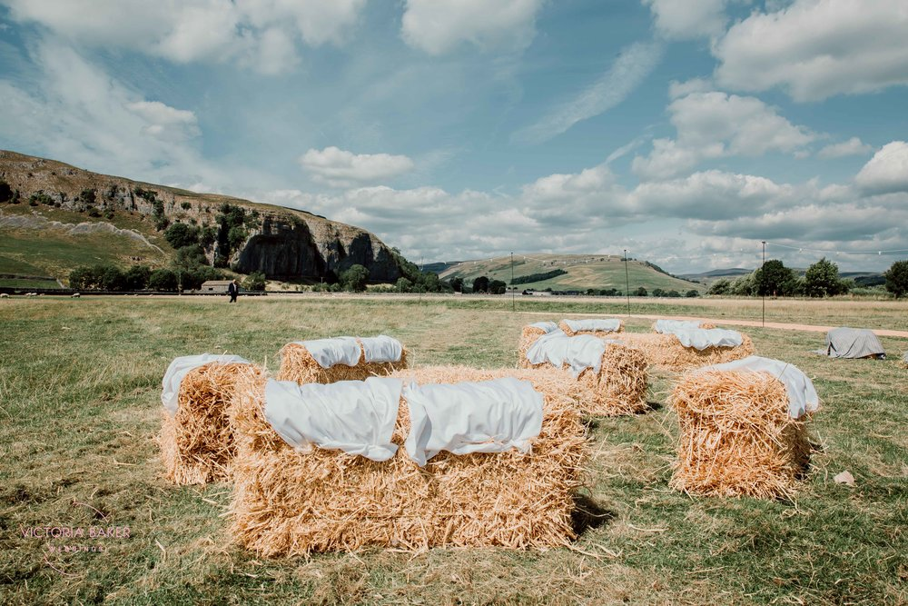 Hay bails at Kilnsey Park Estate