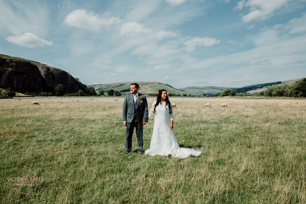Safia & Jonathan at Kilnsey Park Estate