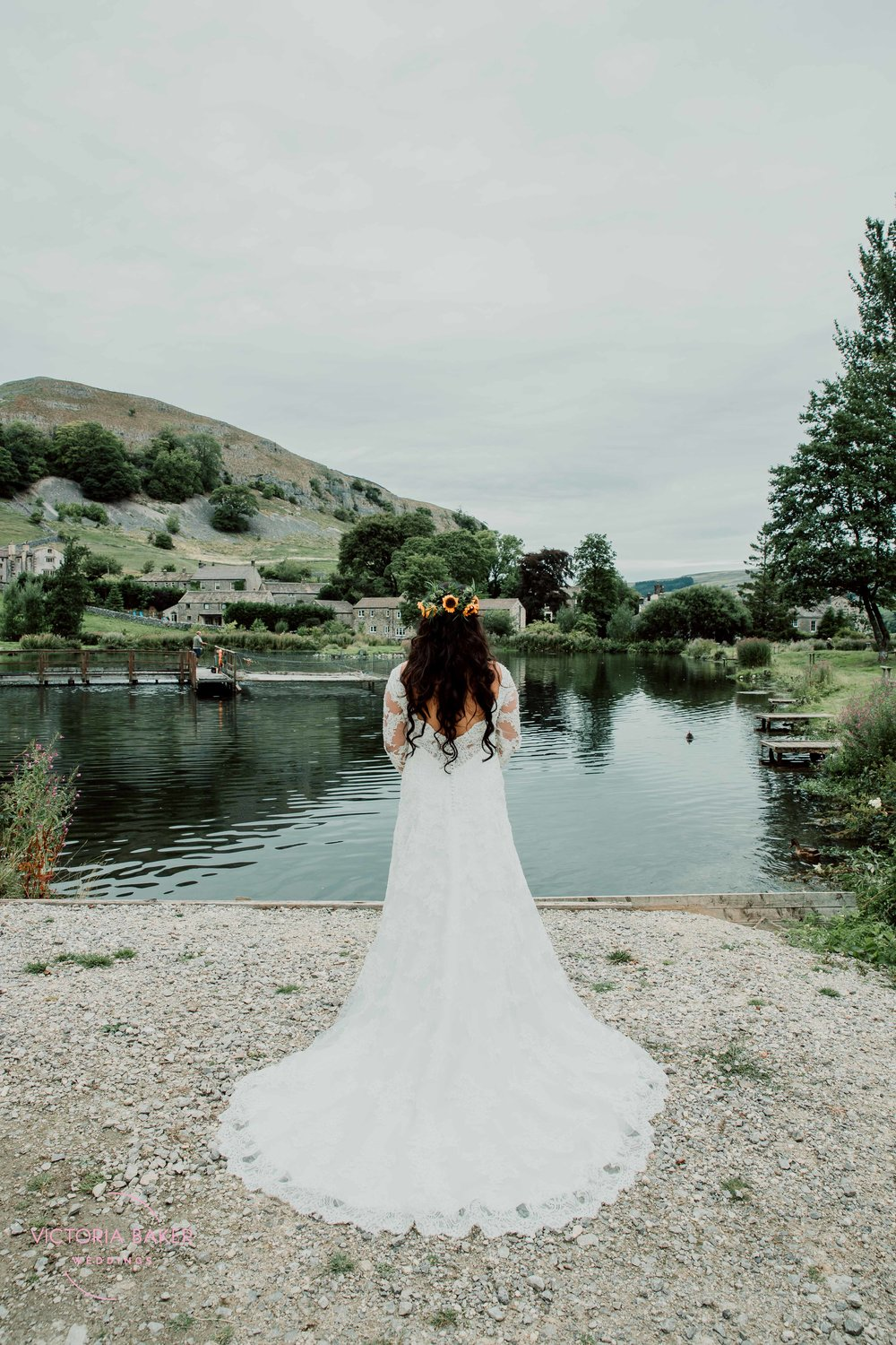 Bride at Kilnsey Park Estate