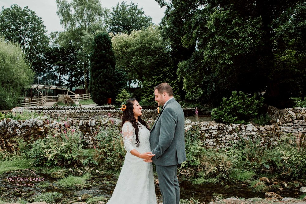 Bride and Groom at Kilnsey Park Estate