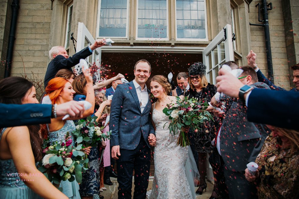 Laura & Barry Confetti shot Falcon Manor
