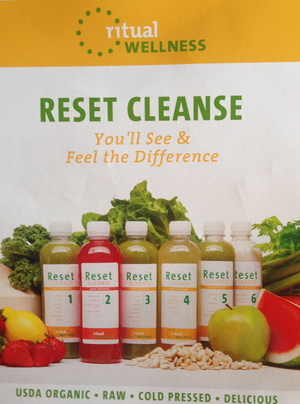 My juice cleanse. You can order it online and so far it works. I've lost weight and already feel back on track.