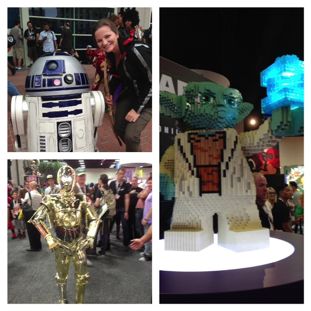 What's Comic Con without Star Wars!  That C-3PO walked and talked.  And that's a working R2 built by a fan.