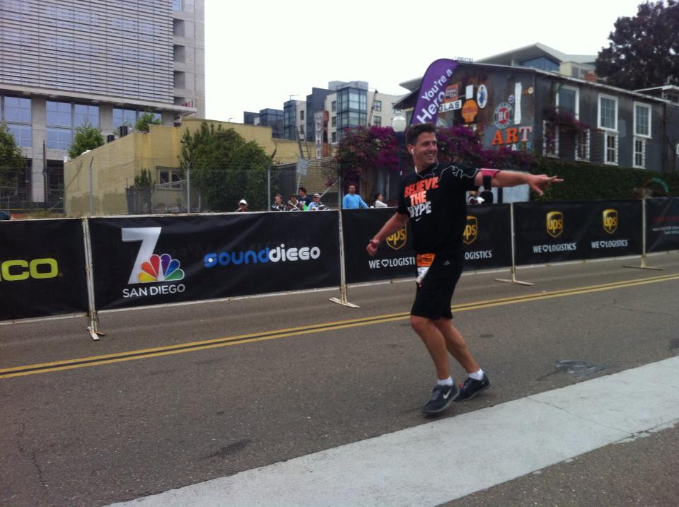 He never gives up...even when it's 26.2 miles.