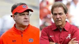 Alabama's head coach, Nick Saban on the right. On the left is some guy I can't remember ;)