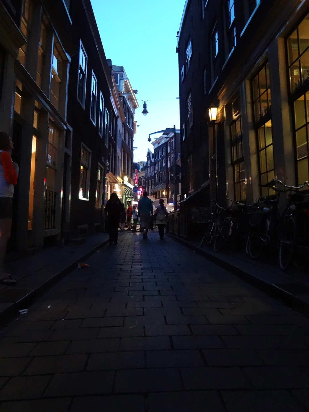 Amsterdam; not far from the red light district