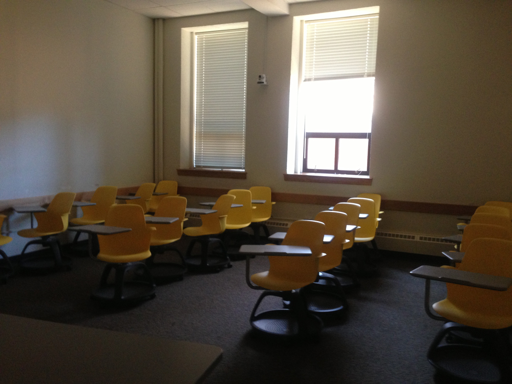 The first classroom I taught in (after we were moved out of the flooding room.....) at NC State, 2012.
