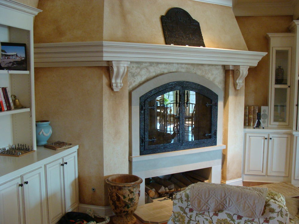 Custom fireplace enclosure