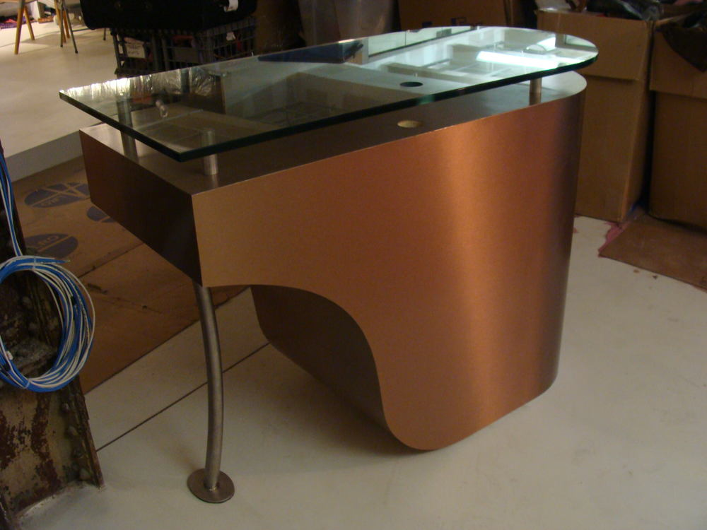 High heel shoe reception desk