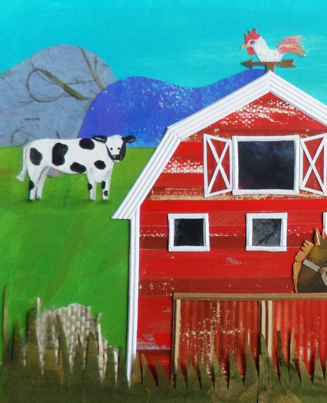 "Peek of the ""Barn"" page I illustrated.   For a children's book titled I See the World by Tom Luna."