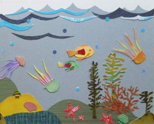 """""""Undersea Reef""""   For a children's book titled  I See the World  by Tom Luna"""
