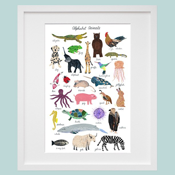 And finally my animal kingdom. Posters will be up for sale in my new online store this Friday.