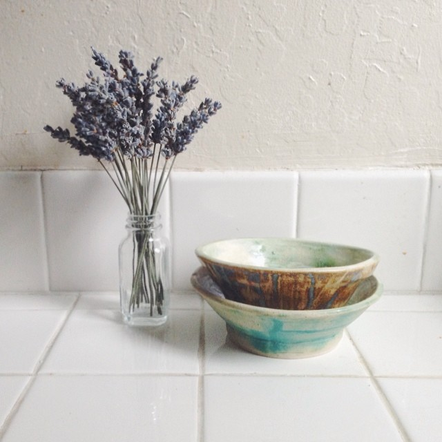 New hobbies possibly: Drying lavenders and making ceramic bowls