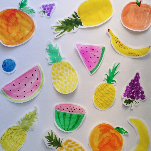 Fruity beginnings for pattern work #watercolor