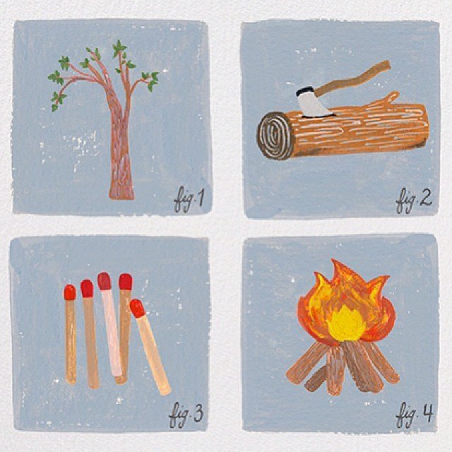 Cozy throwback image from my @paperlesspost days. Searched and found under 'How to Build a Fire'