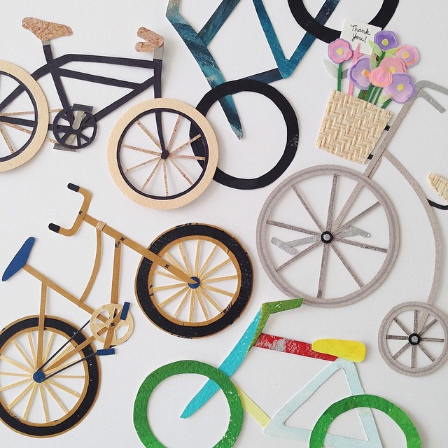 May is National Bike Month! Here are some of the bikes I made over the past few years 🚲 #cutpaper