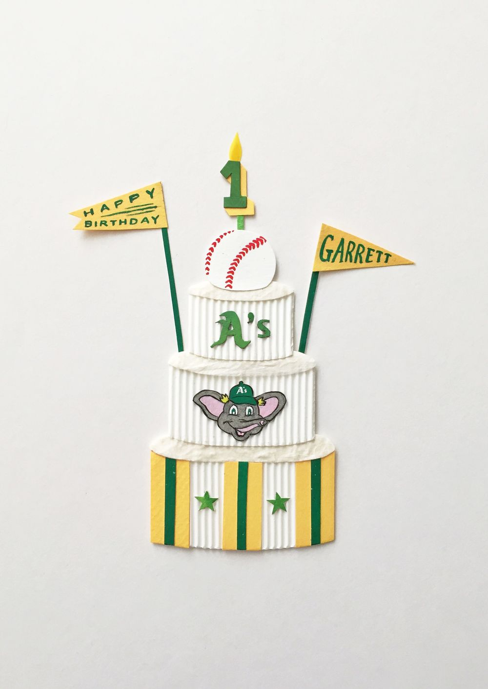 Some one year olds really do have the best birthdays, don't they? Garrett's about to be a lucky little man. Here's a custom invitation for a client who's planning an Oakland A's-themed party for her son's 1st birthday! ⚾️