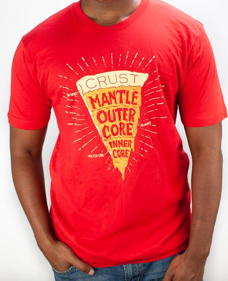 fe0c8257d Pizza Earth Layers Tee for Cognitive Surplus