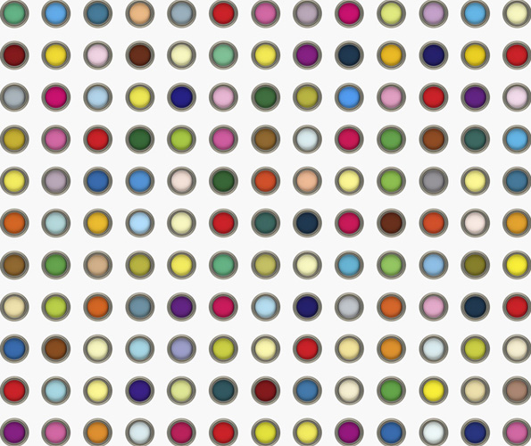 MAKE-BELIEVE DAMIEN HIRST SPOT PAINTING (LSD)