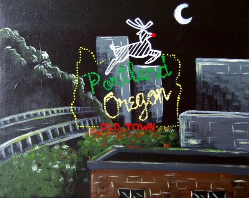 Portland's Old Town Sign