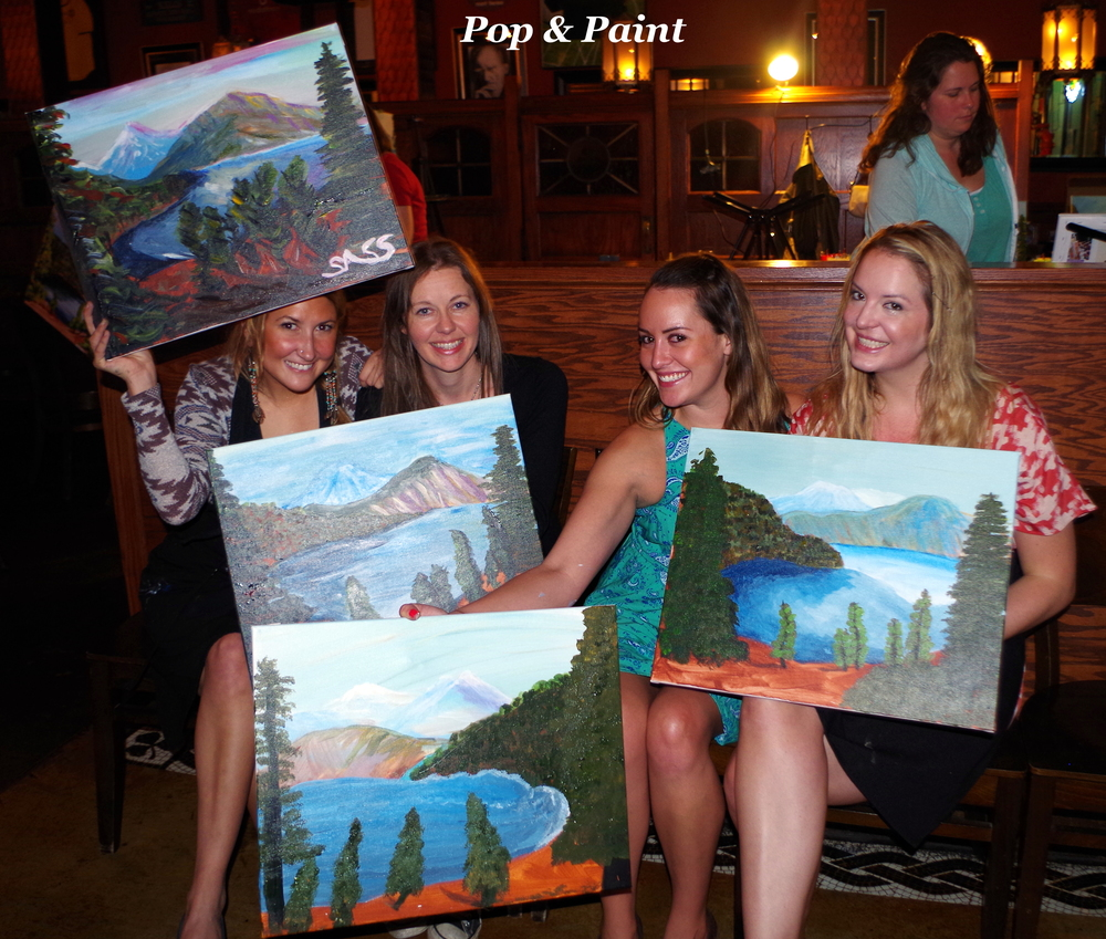 You're paintings look amazing!  Great job!!