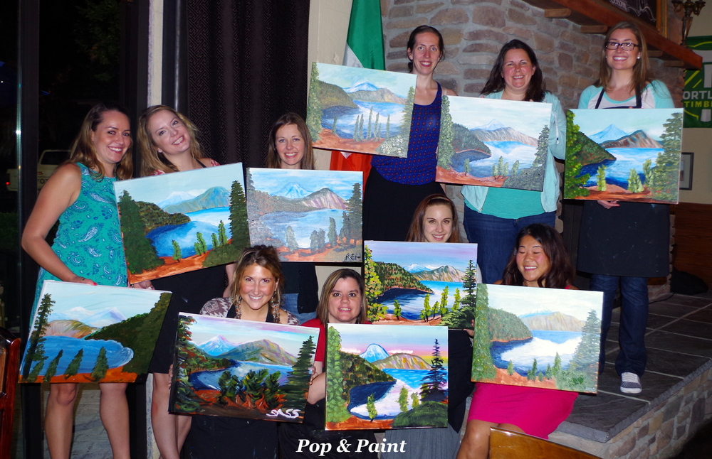 Beautiful paintings everyone!!  You all were a blast!