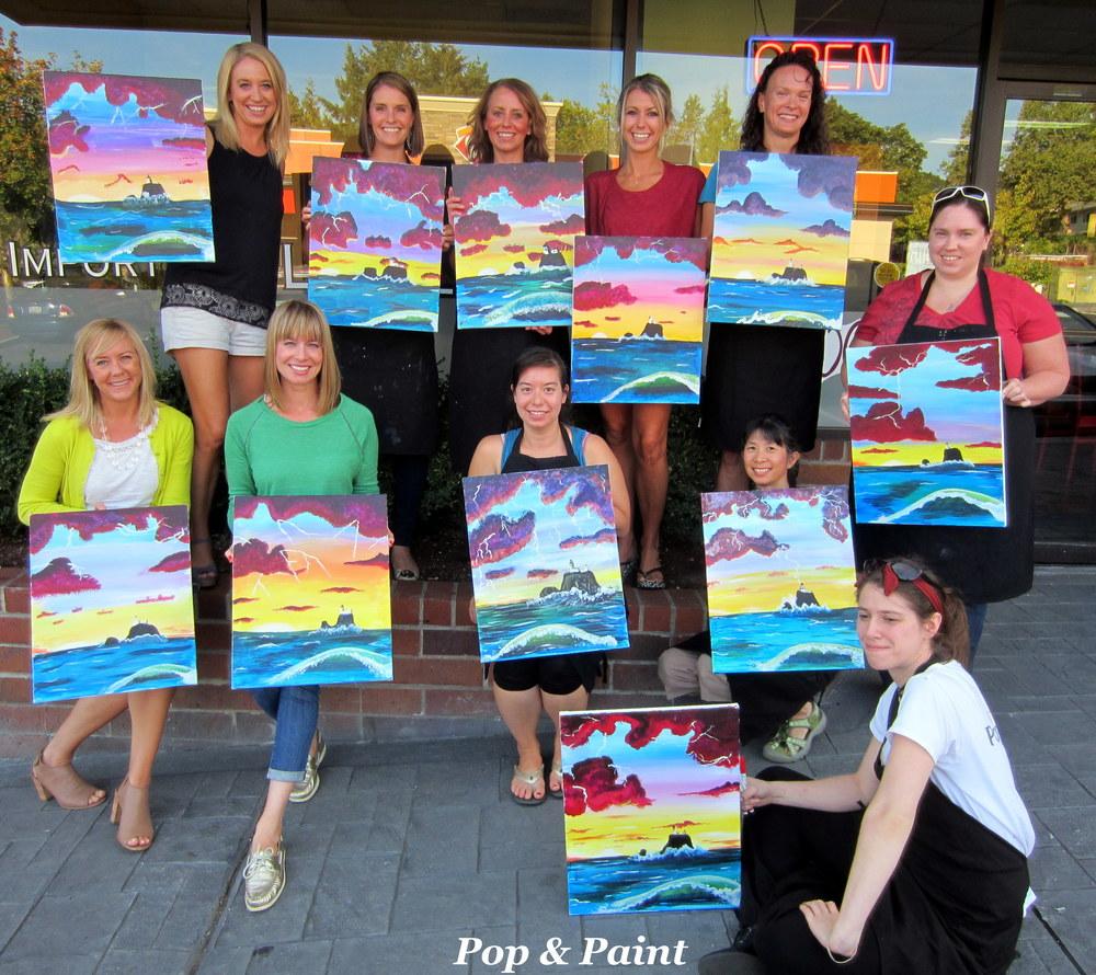 Great job!! You're masterpieces look fantastic!!