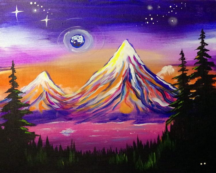 Blue Moon over Mount Hood