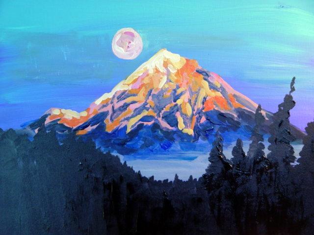 Mount Hood at Dusk (Fundraiser)