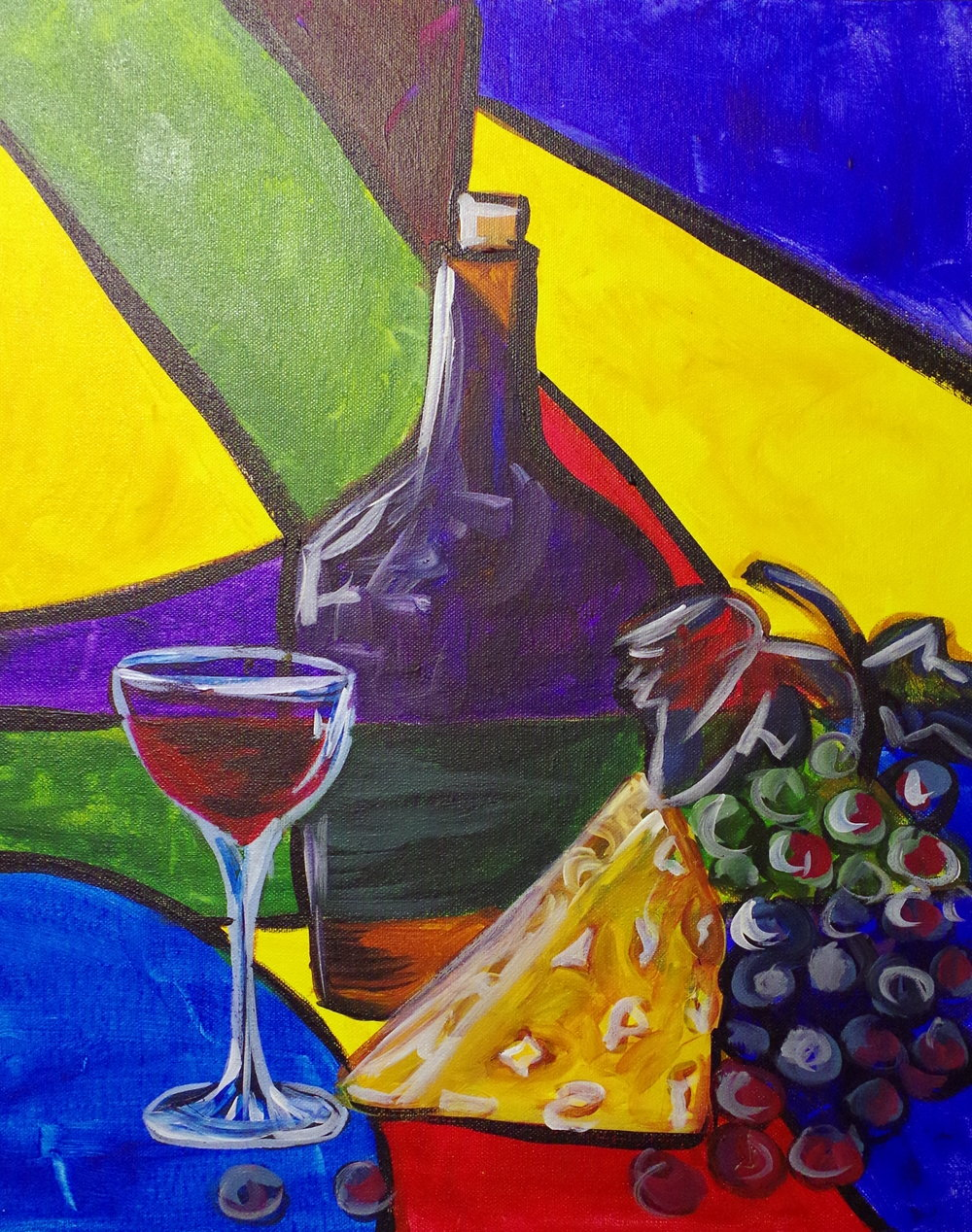 Abstract Cheese & Wine