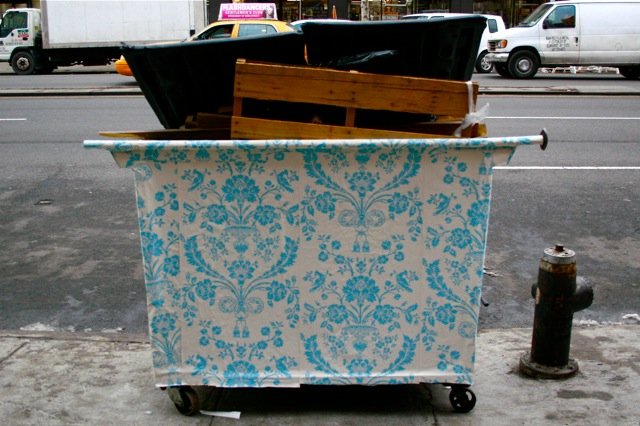 wallpapered dumpsters finley studios