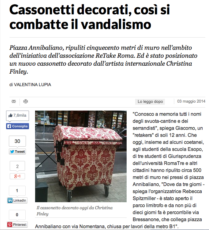 LA REPUBBLICA!!!! FULL ARTICLE HERE