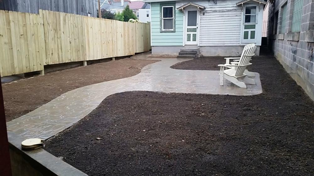 7/28 Back yard hardscaping finished