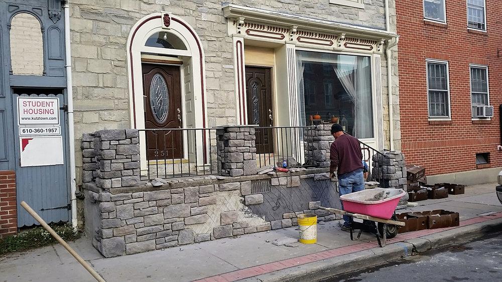 Nov 1 - Stone work begins