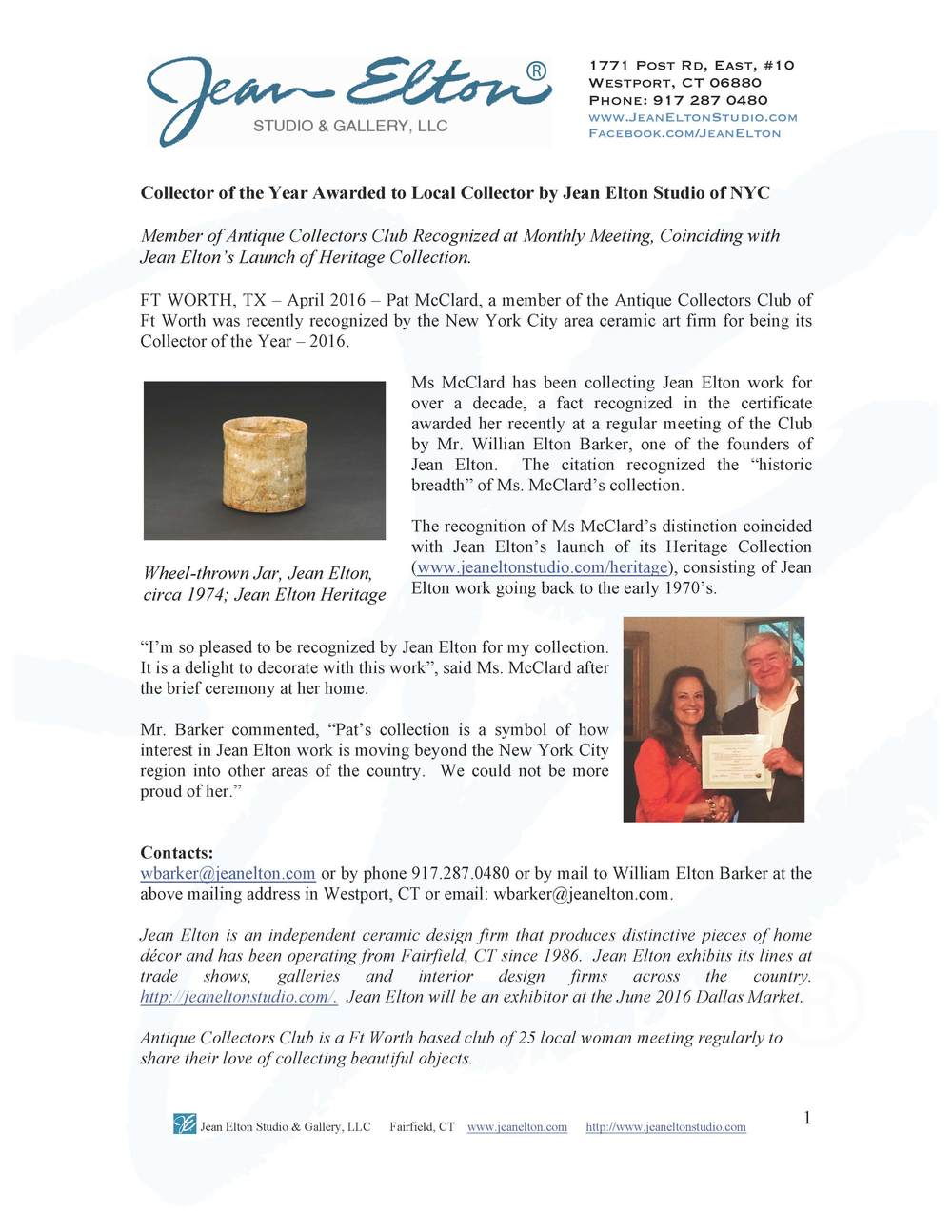 JeanElton_PressRelease_CollectorofYear2015 Final.jpeg