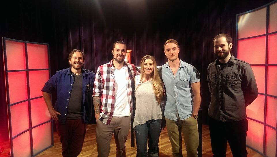 L-R: Taylor, Justin, host Will Steph Wilson, Seth, Aiden.