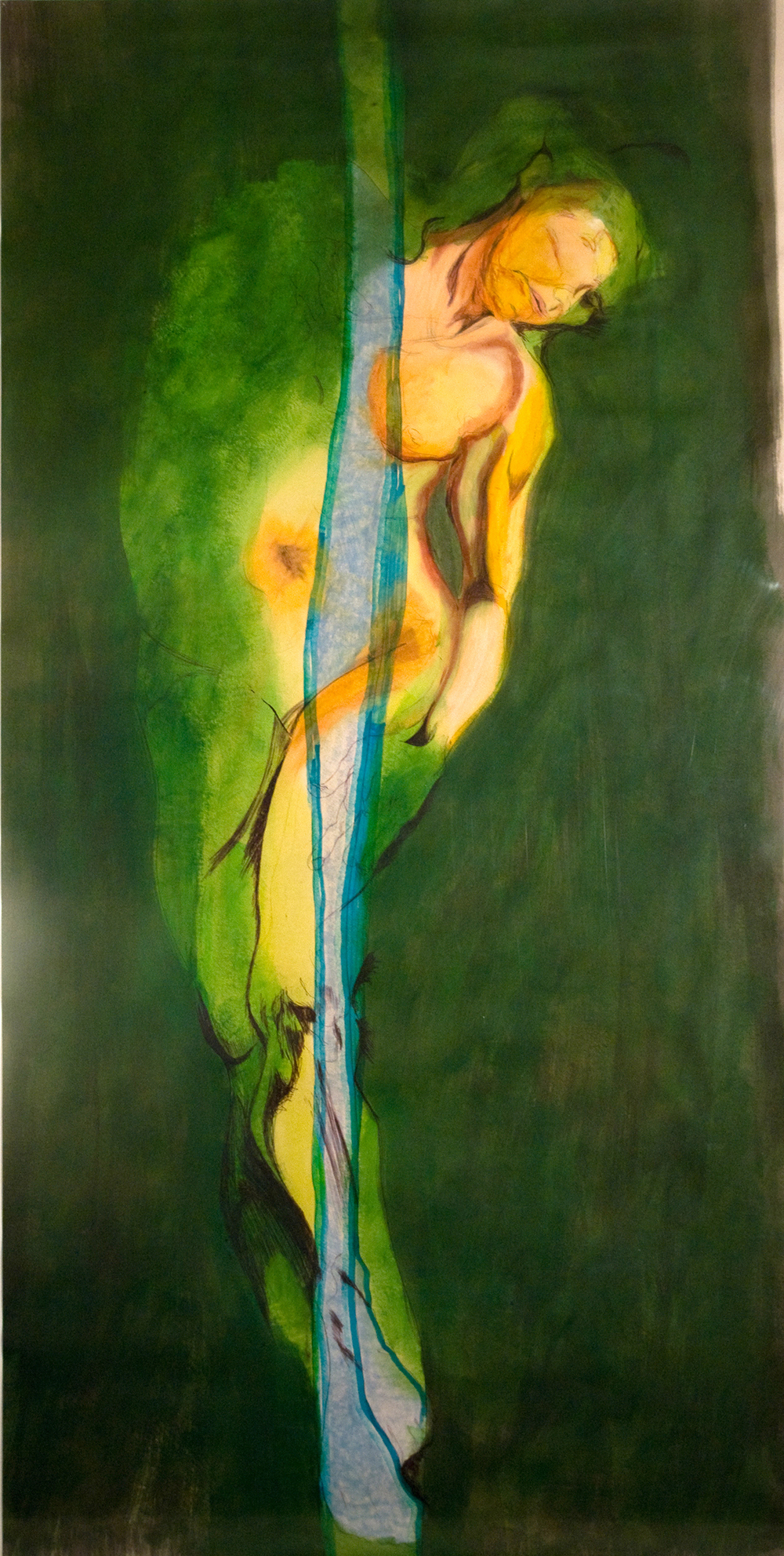 SOLD  Oh, Feel Ya!  mixed media on paper 2009