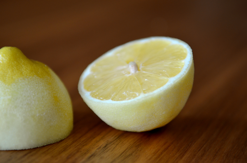 fresh lemons, both zest and juice are key for this recipe