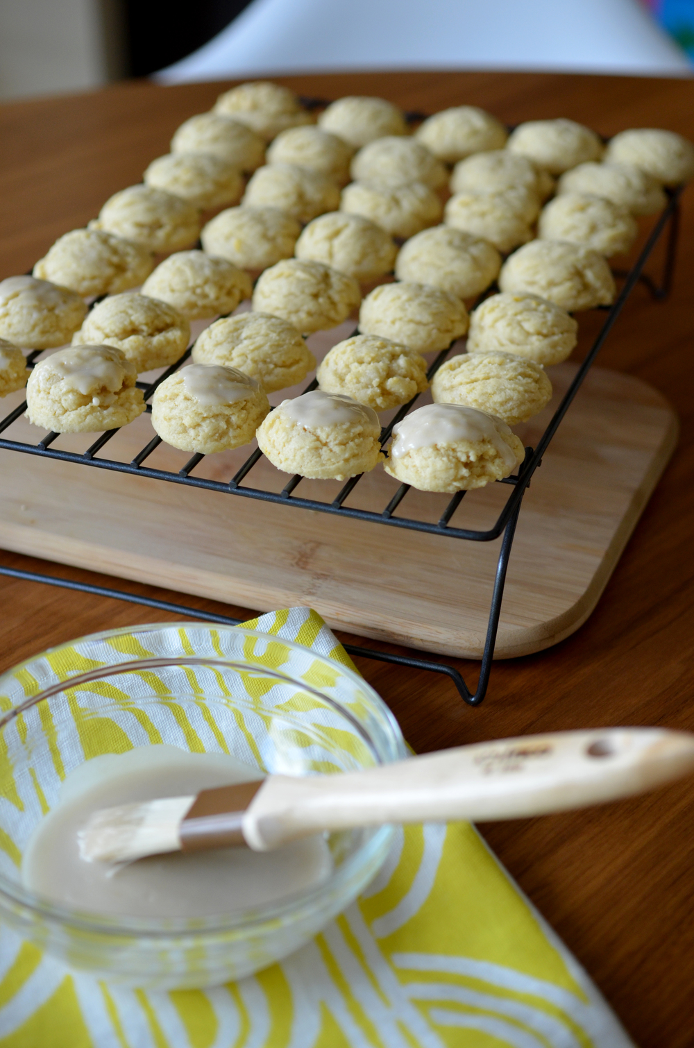 the magical glaze that finishes these cookies. go ahead, try to eat just one!