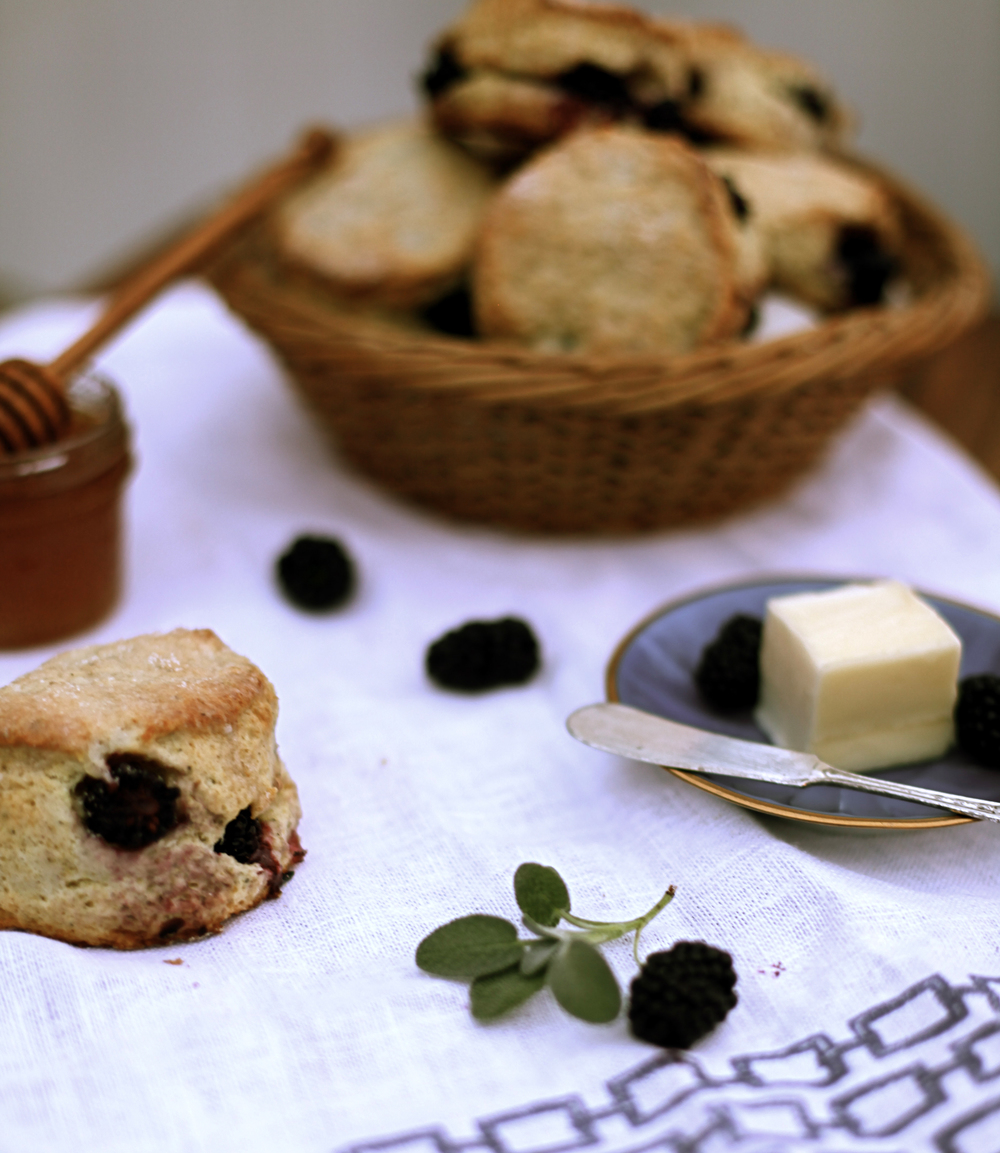 Blackberry and Sage Scones