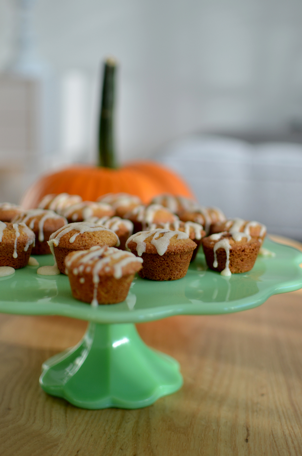 sour cream glazed pumpkin spiced muffins (gluten free)