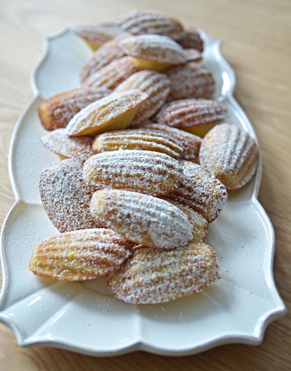 ... french vanilla madeleines madeleines rhubarb and vanilla madeleines