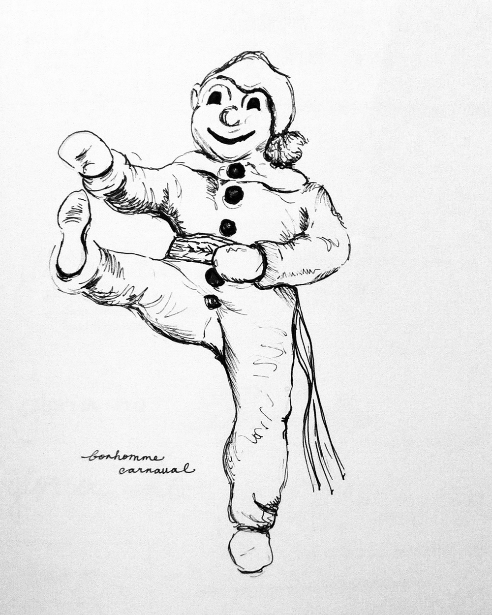 quebec winter carnaval coloring pages - photo#2