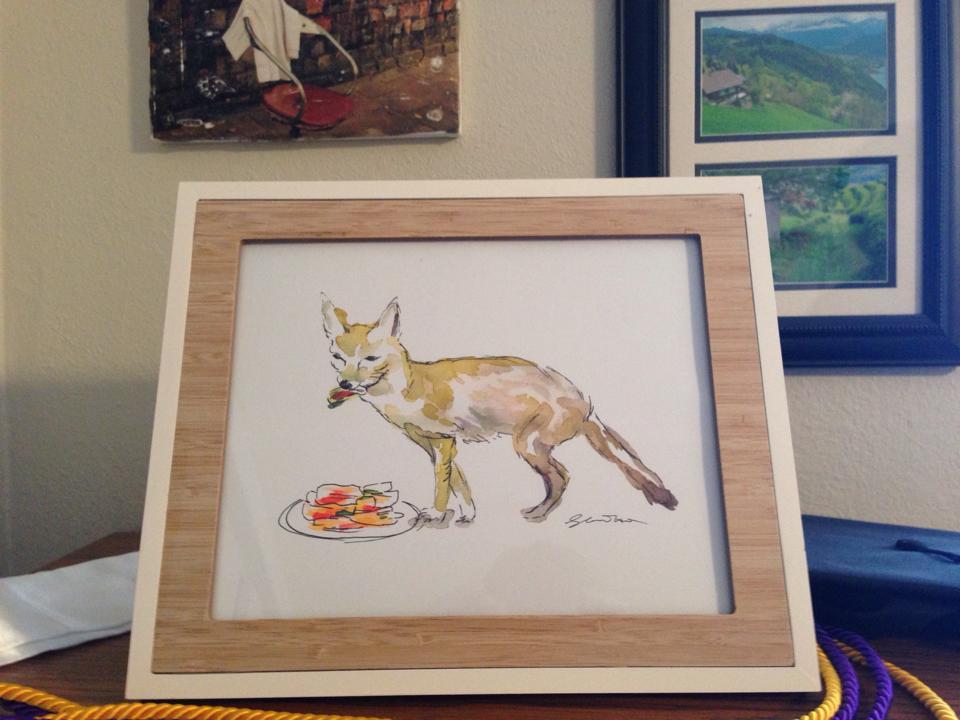 Jeremy's kimchi-eating fox
