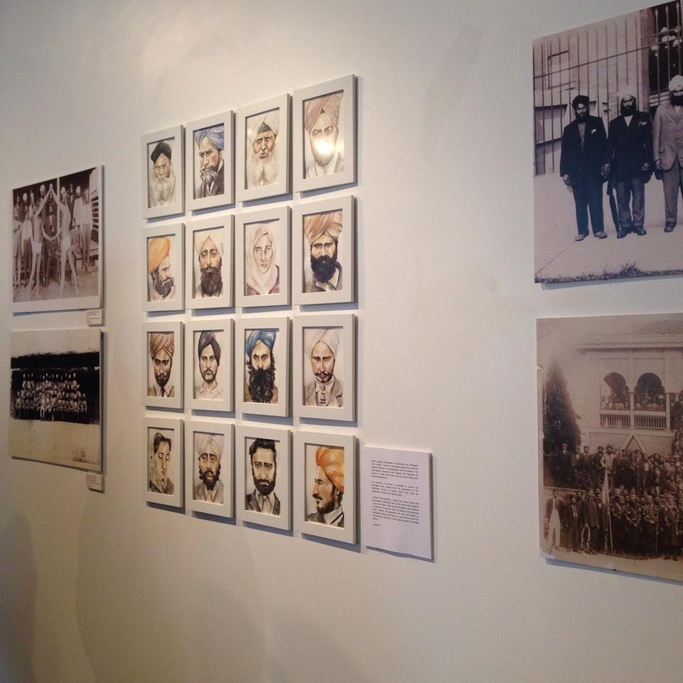 My work displayed alongside powerful historic photographs.