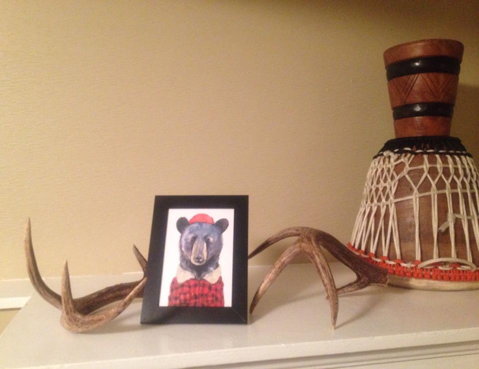 Karmen's lumberjacket bear